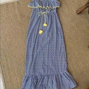Mud pie strapless ruffle maxi dress